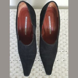 Donald J Pliner Black Muneco Suade Pumps 8 1/2
